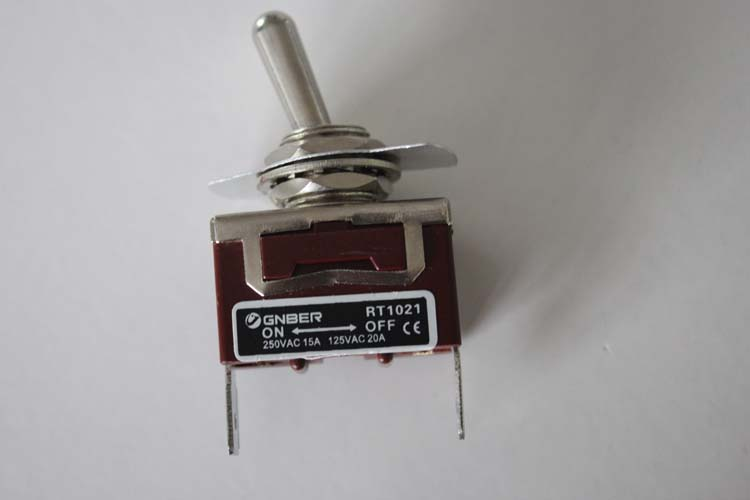 RT1021-C 1P on-off #6.3 terminal type miniature toggle switch