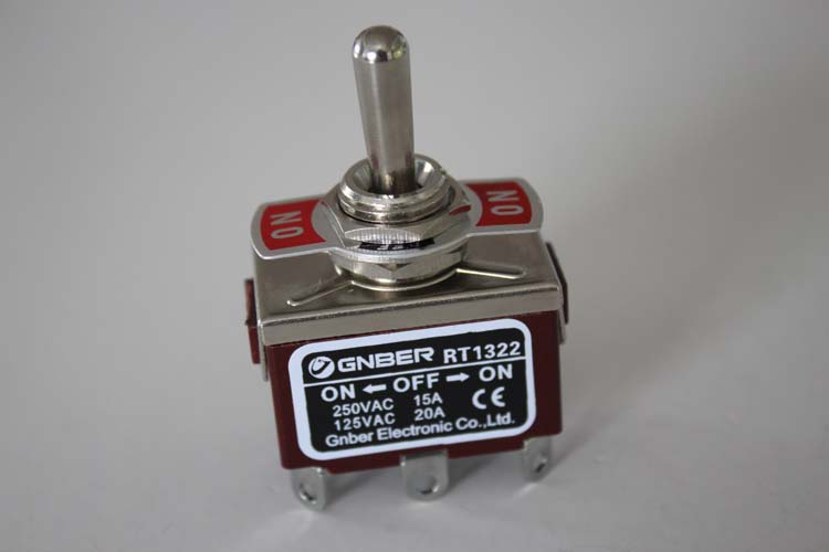 RT1322-E 2P on-off-on weld terminal type miniature toggle switch