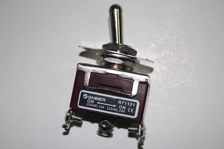 RT1121 One pole on-on screw terminal type miniature toggle switch