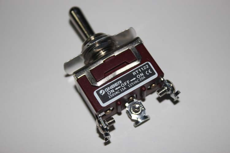 RT1122 One pole middle stop miniature toggle switch