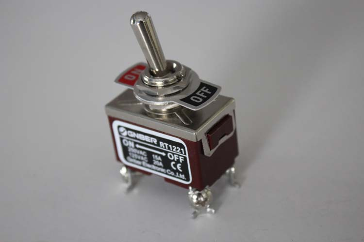 RT1221 Two pole one thorw miniature toggle switch